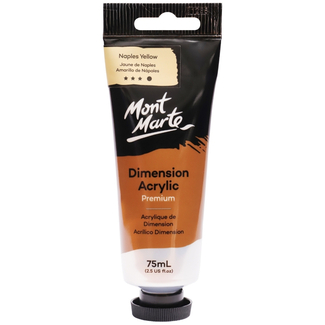 Mont Marte Dimension Acrylic Paint 75ml Tube - Naples Yellow