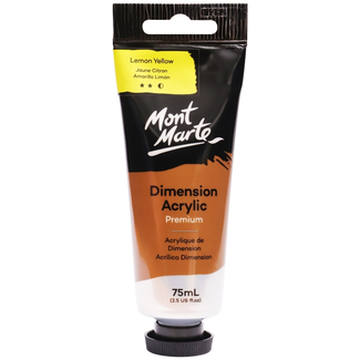 Mont Marte Dimension Acrylic Paint 75ml Tube - Lemon Yellow
