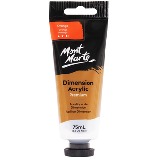 Mont Marte Dimension Acrylic Paint 75ml Tube - Orange