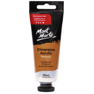 Mont Marte Dimension Acrylic Paint 75ml Tube - Permanent Red
