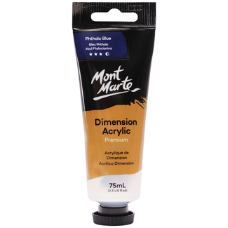 Mont Marte Dimension Acrylic Paint 75ml Tube - Phthalo Blue