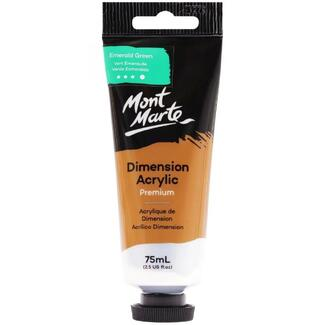 Mont Marte Dimension Acrylic Paint 75ml Tube - Emerald Green