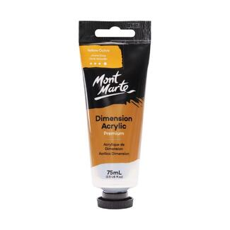 Mont Marte Dimension Acrylic Paint 75ml Tube - Yellow Ochre