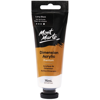 Mont Marte Dimension Acrylic Paint 75ml Tube - Lamp Black