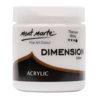 Mont Marte Dimension Acrylic Paint 250ml Pot - Titanium White