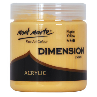 Mont Marte Dimension Acrylic 250mls - Naples Yellow