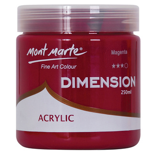 Mont Marte Dimension Acrylic Paint 250ml Pot - Magenta