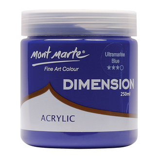 Mont Marte Dimension Acrylic Paint 250ml Pot - Ultramarine Blue