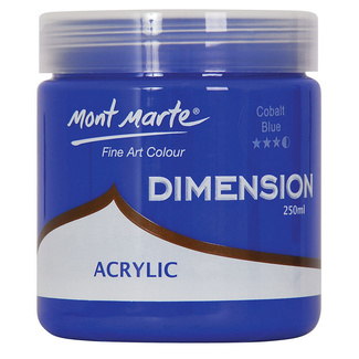 Mont Marte Dimension Acrylic Paint 250ml Pot - Cobalt Blue