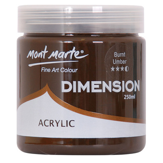 Mont Marte Dimension Acrylic Paint 250ml Pot - Burnt Umber