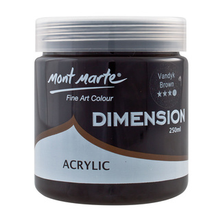 Mont Marte Dimension Acrylic Paint 250ml Pot - Vandyk Brown