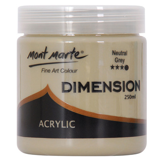 Mont Marte Dimension Acrylic Paint 250ml Pot - Neutral Grey