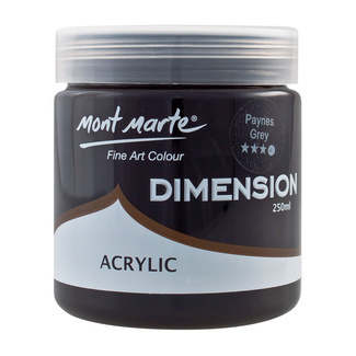 Mont Marte Dimension Acrylic Paint 250ml Pot - Paynes Grey
