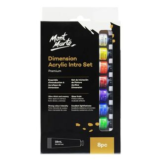Mont Marte Intro Paint Set - Dimension Acrylic Paint 8pc x 18ml