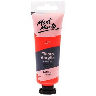 Mont Marte Fluoro Acrylic Paint 50ml - Red