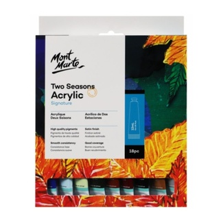 Mont Marte Signature Paint Set - Two Seasons Pastel Acrylic Paint 18pc x 12ml