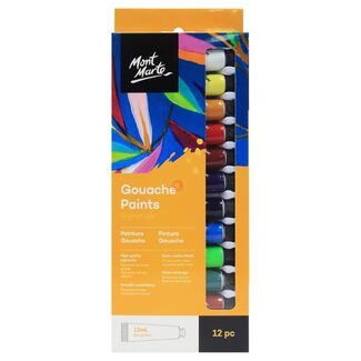 Mont Marte Paint Set - Gouache Paint 12pc x 12ml