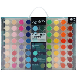 Mont Marte Signature Paint Set - Vivid Colours Acrylic Paint 80pc