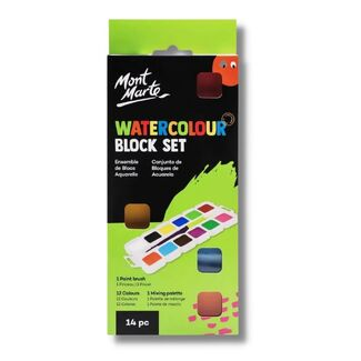 Mont Marte Kids - Washable Watercolour Paint Set
