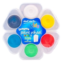 Mont Marte Kids - Tempera Stackable Paint Wheel Bright 6pc