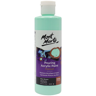 Mont Marte Acrylic Pouring Paint 240ml Bottle - Mint Green