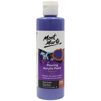 Mont Marte Acrylic Pouring Paint 240ml Bottle - Dark Purple