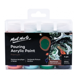 Mont Marte Acrylic Pouring / Fluid 4pc Paint Set - Rainforest