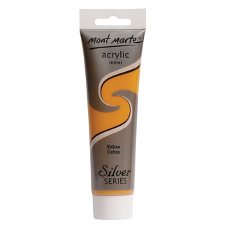 Mont Marte Satin Acrylic Paint 100ml Tube - Yellow Ochre