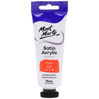 Mont Marte Satin Acrylic Paint 75ml Tube - Orange
