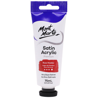 Mont Marte Satin Acrylic Paint 75ml Tube - Rose Madder