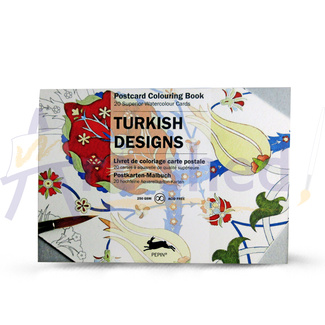 Pepin Artist's Postcard Adult Colouring Book 20 Designs - Turkish Designs
