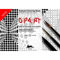 Pepin Artist's Postcard Adult Colouring Book 20 Designs - Op Art