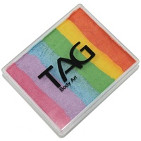 TAG Body Art & Face Paint Split Cake 50g - Pearl Rainbow Delight