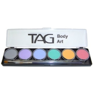 TAG Body Art & Face Paint Palette 6 x 10g - Pastel