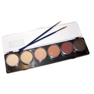 TAG Body Art & Face Paint Palette 6 x 10g - Skin