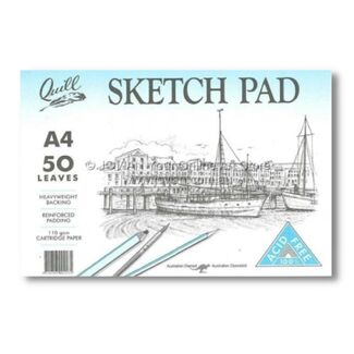 Quill Cartridge Paper Sketch Pad A4 110gsm 50 Sheets