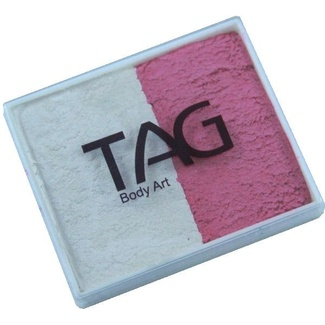 TAG Body Art & Face Paint Split Cake 50g - Pearl Rose/Pearl White