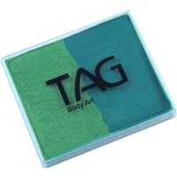 TAG Body Art & Face Paint Split Cake 50g - Pearl Green/Pearl Lime