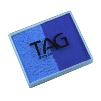 TAG Body Art & Face Paint Split Cake 50g - Royal Blue/Powder Blue