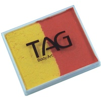 TAG Body Art & Face Paint Split Cake 50g - Orange/Yellow