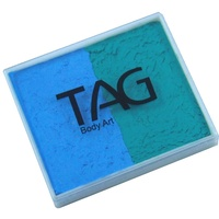 Tag Teal / Light Blue 50 Gram Split Cake