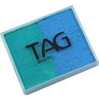 TAG Body Art & Face Paint Split Cake 50g - Pearl Teal/Pearl Sky Blue