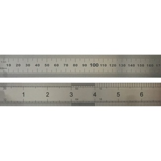 Stainless Steel Metric/Imperial Ruler 60cm