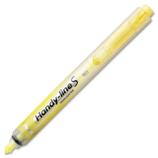 Pentel Handy-line S Retractable Highlighter - Yellow