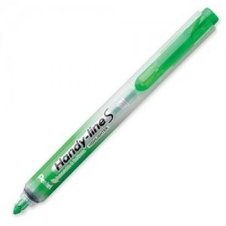 Pentel Handy-line S Retractable Highlighter - Green