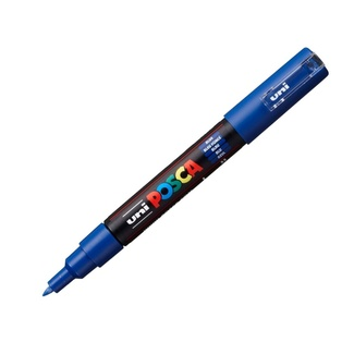 Uni Ball Posca Pen Extra Fine Bullet Tip 0.7mm PC-1M - Blue
