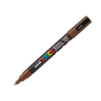 Uni Ball Posca Pen Fine Bullet Tip 1.3mm PC-3M - Brown