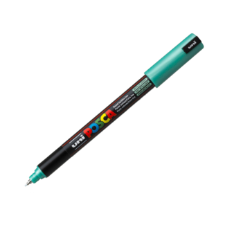 Uni Ball Posca Pen Ultra Fine Pin Tip 0.7mm PC-1MR - Metallic Green