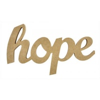 Kaisercraft Wooden Script Word - Hope