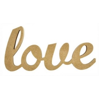 Kaisercraft Wooden Script Word - Love